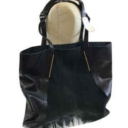 """Lanvin """"satorial"""" Leather And Suede Tote"""
