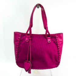Christian Dior Trotter Ethnic Women's Nylon Canvas,Leather Tote Bag Pin BF520410