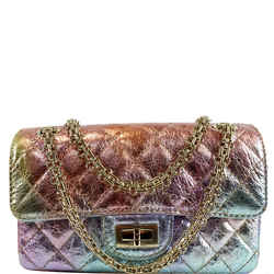 Mini Reissue 2.55 Flap Rainbow Metallic Quilted Shoulder Bag Multicolor