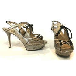 Nicholas Kirkwood Leather Lace-up Platform Sandals Heels Sz 8.5 Euro 38.5