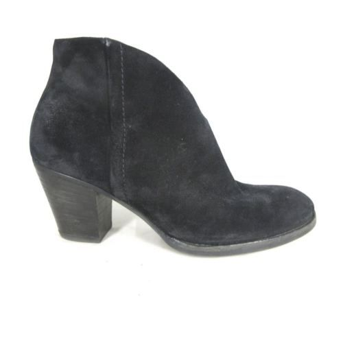 PAUL GREEN Black Suede Leather Stacked