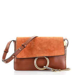 Faye Shoulder Bag Leather and Suede Mini