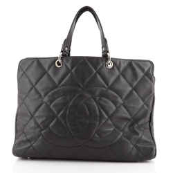 Timeless CC Soft Zip Tote Quilted Caviar XL