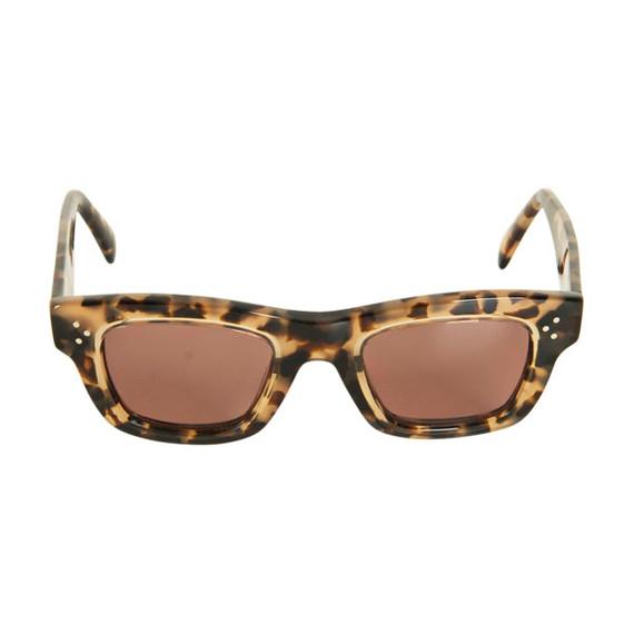 Celine Tortoiseshell Rectangular Sunglasses