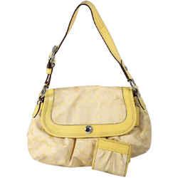 Coach Signature Soho Shoulder Bag Yellow/gold One Size Authenticity Guaranteed