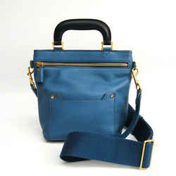 Anya Hindmarch Mini Orsett Women's Leather Handbag,shoulder Bag Blue Bf509660