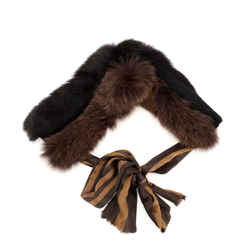 Pequin Stole Fox Fur and Silk