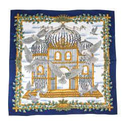 Rare Hermes Scarf Silk Envol by Joachim Metz