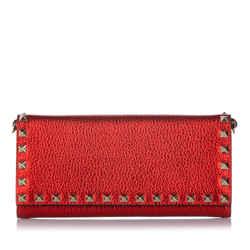 Red Valentino Rockstud Leather Crossbody Bag