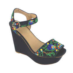 Tory Burch | Sonoma Floral Embroidered Wedges