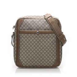 Vintage Authentic Gucci Brown Diamante Crossbody Bag Italy