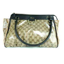 Gucci Crystal monogram D-Ring Abbey Tote Bag 233555