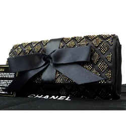 Chanel Quilted Ribbon Flap Clutch 220165