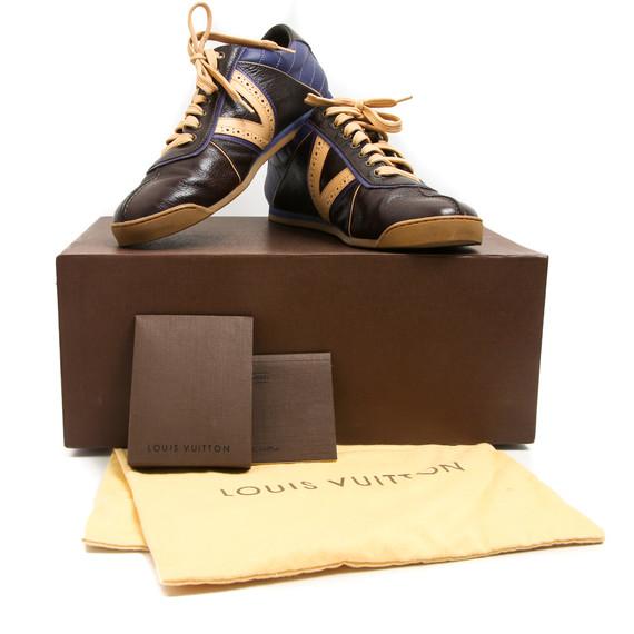 Louis Vuitton Brown/Tan/Purple V-Side Sneakers