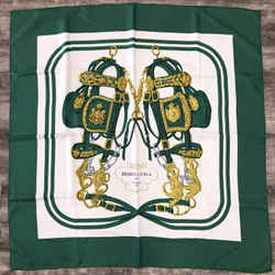 Authentic Hermes Silk Scarf Green