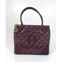Chanel Caviar Leather Medallion with Gold Hardware in Dark Brown Tote Shoulder Handbag