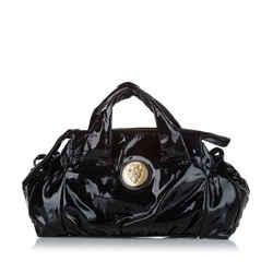 Black Gucci Hysteria Patent Leather Handbag Bag