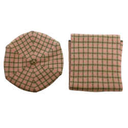 Loro Piana Pink Plaid Cashmere & Cap Set