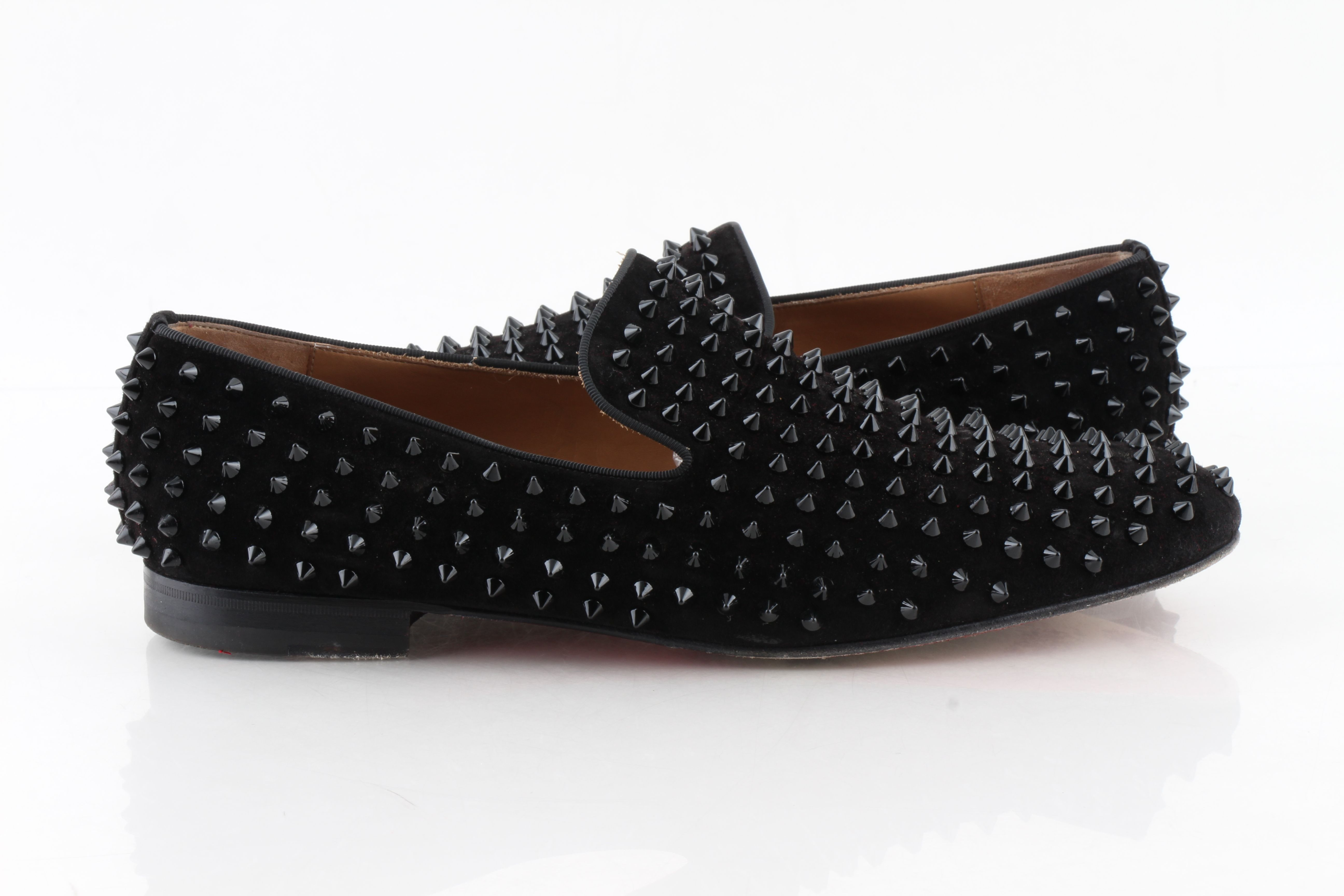 Dandelion Spikes Flat Veau Velour Shoes