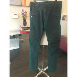 Balmain Green Sz 32 Stretch Cotton Moto Distressed Pants Jeans - 2305-3-8119