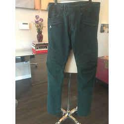 Balmain Green Sz 32 Stretch Cotton Moto Distressed Pants Jeans - 2305-3-8119