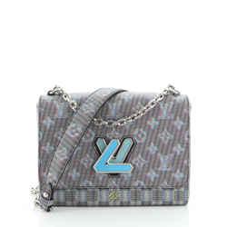 Twist Handbag Damier Monogram LV Pop Canvas MM