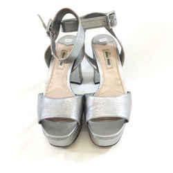 Mui Mui Platform Metallic Heels