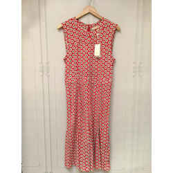 Tory Burch Size Medium Red & White Print Dress