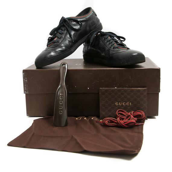 Gucci Blackout Shine GG Supreme Monogram Sneakers