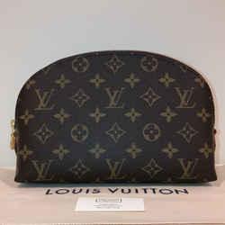 "Louis Vuitton Brown Pouch Gm Cosmetic Bag 8.7""l X 2.4""w X 5.9""h"