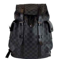 LOUIS VUITTON Christopher PM Damier Graphite Backpack Bag Black