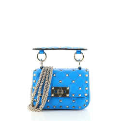 Rockstud Spike Flap Bag Quilted Leather Micro