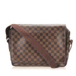 Vintage Authentic Louis Vuitton Brown Damier Ebene Shelton MM France