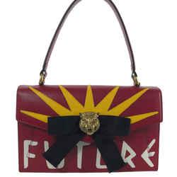 Nwt Gucci 466417 Future Bow Feline Head Leather Bag, Multi