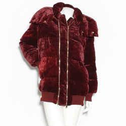 Stella Mccartney Velvet Zip Puffer Coat