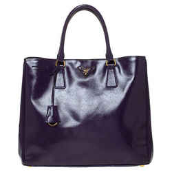 Prada Purple Saffiano Patent Leather Tote