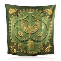 Hermes Vintage Silk Scarf Les Cavaliers D'Or 1975 Rybaltchenko