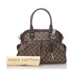 Louis Vuitton Damier Ebene Trevi PM Boston Bowler with Strap 860311