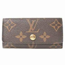 Auth Louis Vuitton Louis Vuitton Monogram Multikre 4 Key Case Brown Pvc