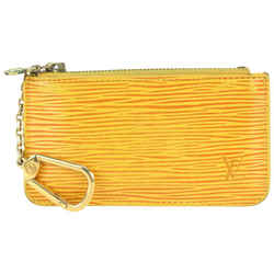 Louis Vuitton Yellow Epi Leather Pochette Cles Keychain Key Pouch 177lv82