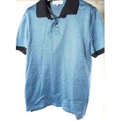 Salvatore Ferragamo Blue Gancini pique Cotton Polo Shirt