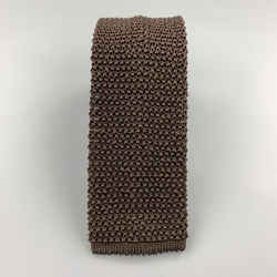 Charvet Brown Silk Textured Knit Tie
