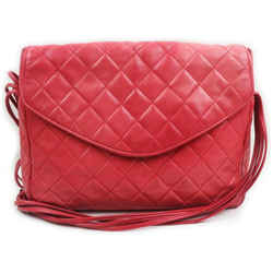 Chanel Quilted Red Leather Multi Strand Flap 861700