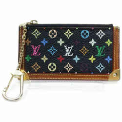 Louis Vuitton Black Monogram Multicolor Key Pouch Pochette Cles Keychain 861264