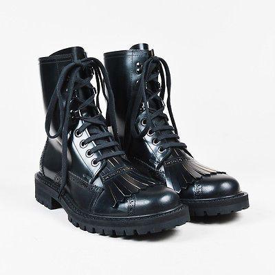 MENS Dries Van Noten NIB Black Leather
