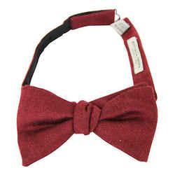 Bottega Veneta Men's Red Silk Cashmere Bow Tie 270827 6100