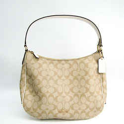 Coach Signature Zip Hobo F29209 Women's Coated Canvas,leather Shoulder  Bf508049