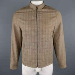 Neil Barrett M Tan Plaid Wool Jacket