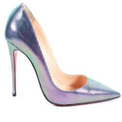 Christian Louboutin - Disco Iridescent So Kate Pumps - Leather Heel  Us 6 - 36.5