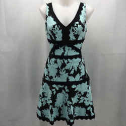 Alberto Makali Blue Sleeveless Dress Small